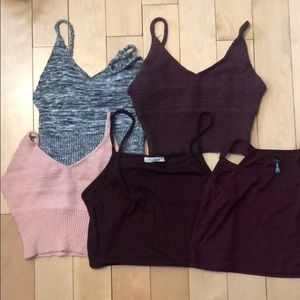 Tops - Crop top lot (5).